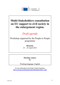 Multi-Stakeholders consultation on EU support to civil society in the enlargement region.