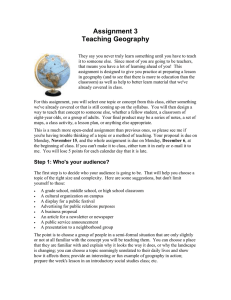 Assignment 3 Teaching Geography