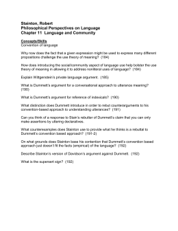 Stainton, Robert Philosophical Perspectives on Language Chapter 11  Language and Community