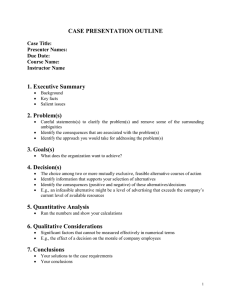 Case Presentation Outline