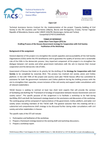 Technical  Assistance  Service  Contract  for ... Technical Assistance for Civil Society Organisations