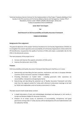 Technical Assistance Service Contract for the implementation of the Project...