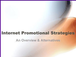 Online Promotional Strategies