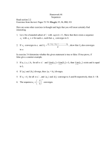 HW #6 - Sequences