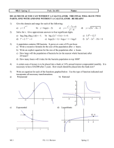 Review Problem Set