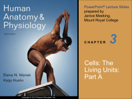 3 Cells: The Living Units: Part A