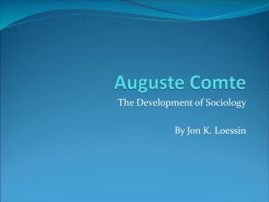 The Development of Sociology By Jon K. Loessin