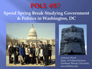 Study Politics Government over Spring Break in Washington, DC