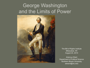 George Washington and the Limits of Power