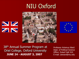 NIU Oxford: Study Abroad at Oriel College, Oxford University