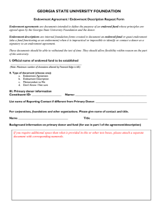 Endowment Agreement Request Form