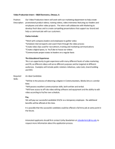 B B Electronics Video Production Internship