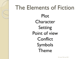 The Elements of Fiction Plot Character Setting