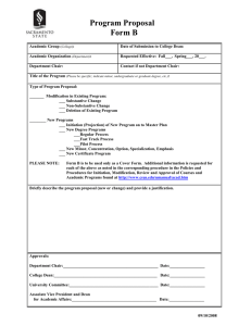 Program Proposal Form B