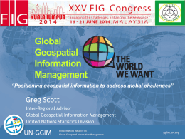 Global Geospatial Information Management