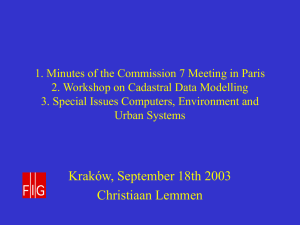 1. Minutes of the Commission 7 Meeting in Paris