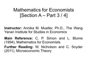 mathematics for economists section a part 3