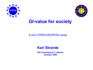 K. Strande: Value of Society by Use of Geographic Information