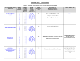Appendix E: Core Classes Assessment Matrix