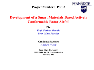 Development of a Smart Materials Based Actively Conformable Rotor Airfoil