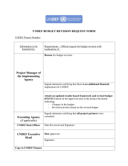 Project Budget Revision Request Form