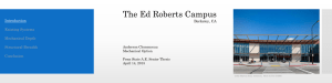 The Ed Roberts Campus Introduction Existing Systems Mechanical Depth