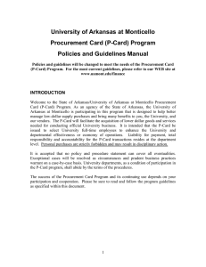 P-Card Procedure Manual - Word