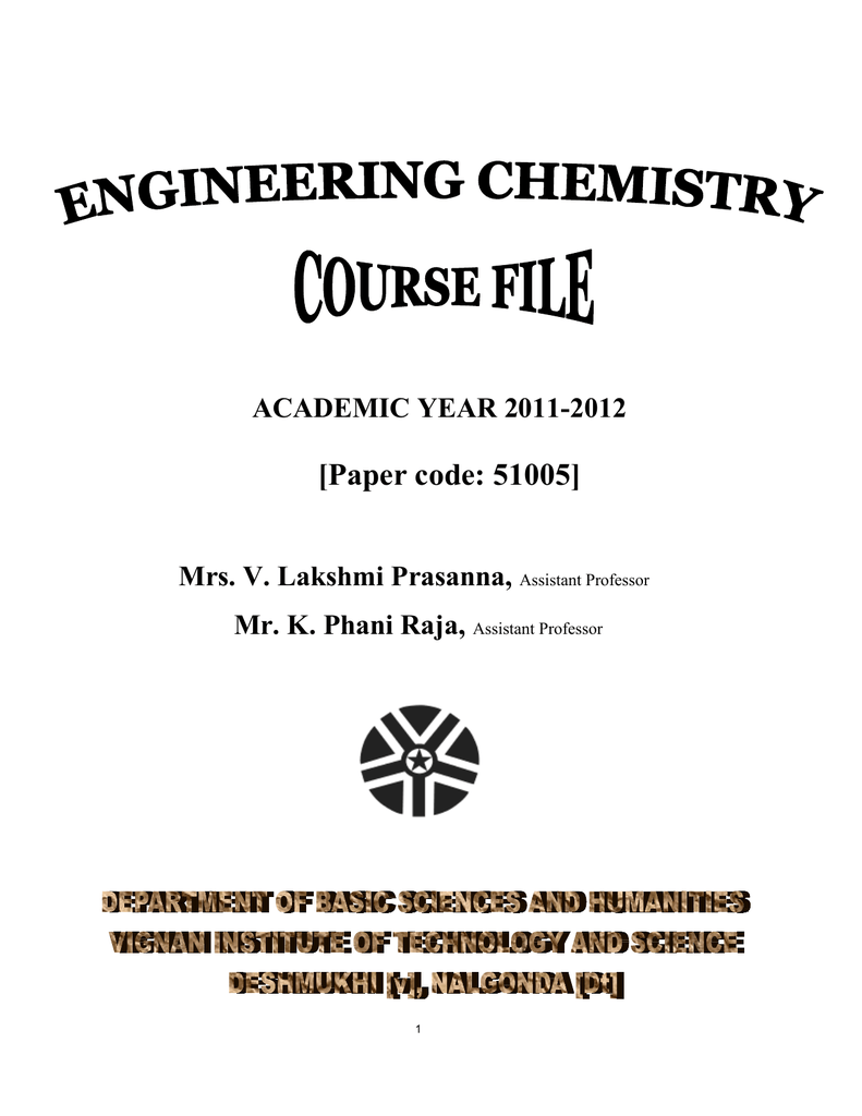 4  Engineering Chemistry Course File