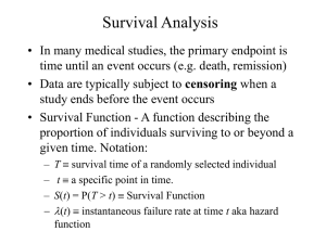 Introduction to Survival Analysis (PPT)