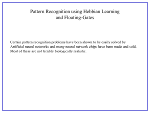 Pattern Recognition using Hebbian Learning and Floating-Gates