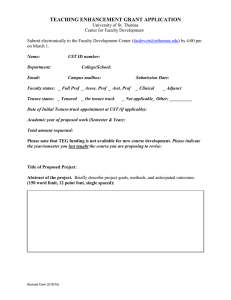Teaching Enhancement Grant Application Form