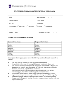 Telecommuting Arrangement Proposal Form