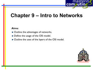 – Intro to Networks Chapter 9