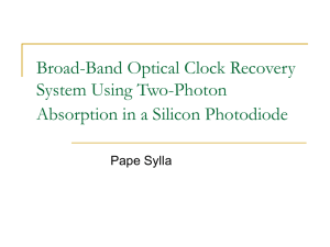 Broad-Band Optical Clock Recovery System Using Two-Photon Absorption in a Silicon Photodiode