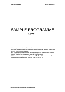 Sample programme (DOC, 64KB)