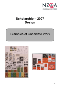 – 2007 Scholarship Design Examples of Candidate Work