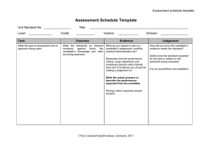 Assessment Schedule Template