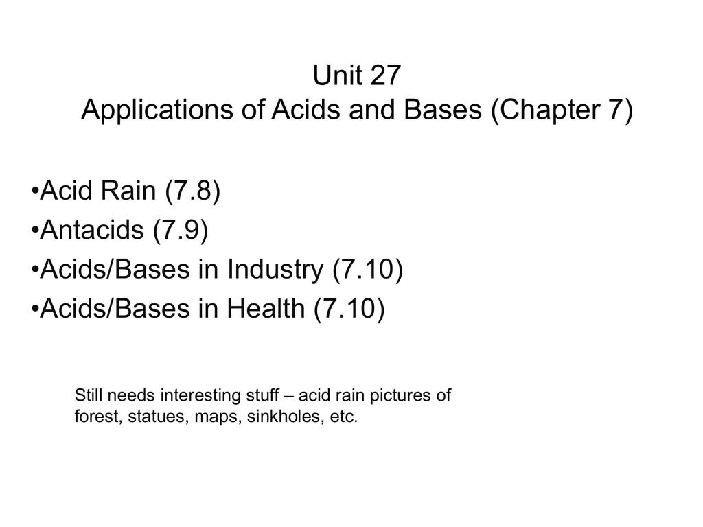applications of acids