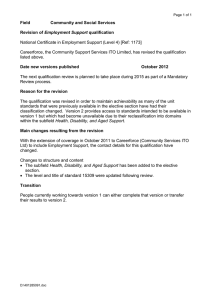 National Certificate in Employment Support (Level 4) [Ref: 1173] Field