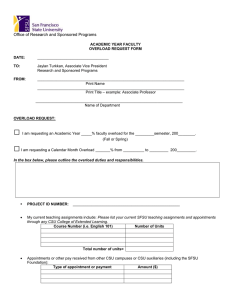 Overload Request Form