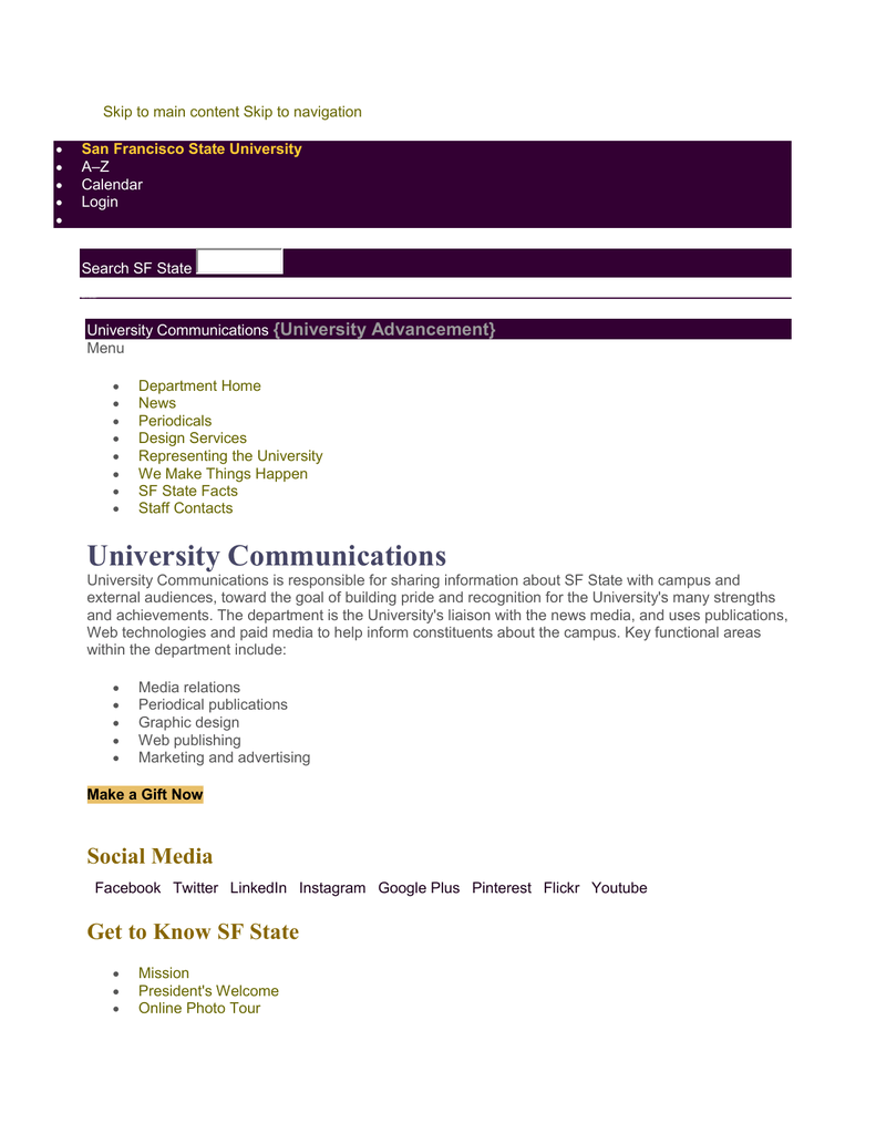 University Advancement}
