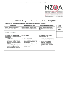 Level 1 NCEA Design and Visual Communication (DVC) 2015