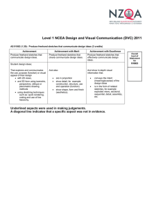 Level 1 NCEA Design and Visual Communication (DVC) 2011