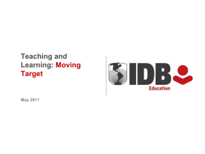 Teaching and Learning: Moving Target