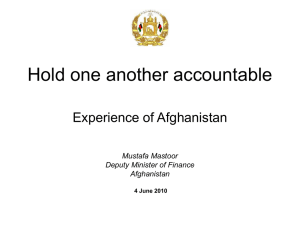 Hold one another accountable: Experience of Afghanistan