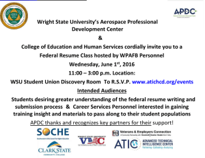Wright State University's Aerospace Professional Development Center &