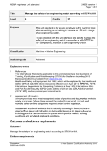 NZQA registered unit standard 29355 version 1  Page 1 of 2