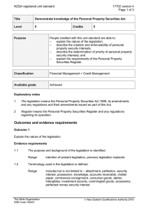NZQA registered unit standard 17702 version 4  Page 1 of 3