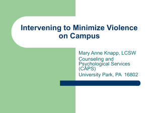 Violence on Campus PowerPoint Presentation