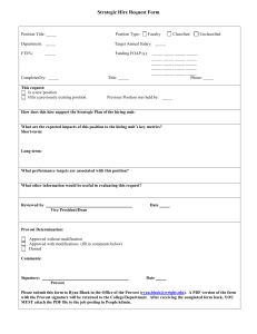 Strategic Hire Request Form